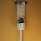 Macrame plant hanger for wall or window - colour options available