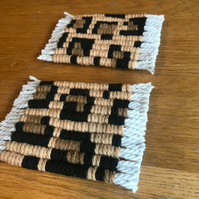 Customisable macramé coasters with pattern your choice - sets available