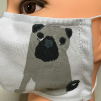 Cartoonish dog face mask 4