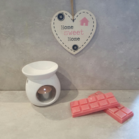 Strawberry Bon Bon  Scent Handmade SOY Wax Melt Bar, Highly Scented