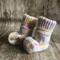 Ugg style baby booties hand knitted