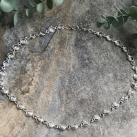 Tribe eco silver necklace