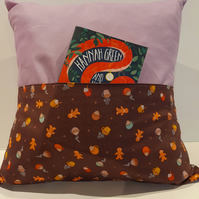 Gingerbread Man Themed Pocket Cushion 18 Inches Square