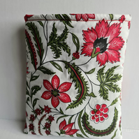 Pretty Floral Book Sleeve Tablet Cover