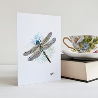 Dragonfly Card, Greeting Card, Dragonfly, Notecard, Personalisation available