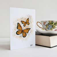 Butterfly card, Monarch Butterflies, Greeting card, Notecard, Personalised