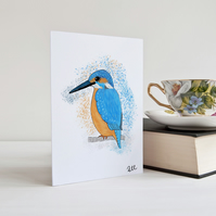 Kingfisher, Card, Bird, Greeting Card, Any Occasion, Wildlife, Personalised