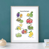 Fruit, Illustration, Fruits of the Spirit, Illustrated Faith, Art, Print, Gift