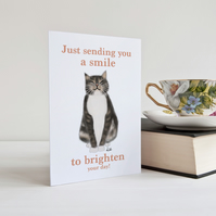 Cat Card, Cat Greeting Card, Cat, Tabby Cat, Birthday, Notecard, Personalised