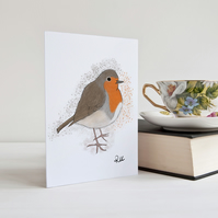 Robin Greeting Card, Notecard, Robin Birthday Card, Any Occasion, Personalised
