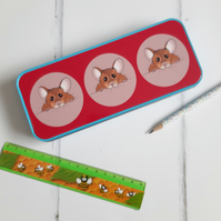 Mouse Pencil Case, Mice, Mouse, Pencil Tin, Stationery Tin, Animal, Gift
