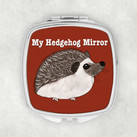 Hedgehog Pocket Mirror, Hedgehog, Compact Mirror, Pocket Mirror, Small Gift