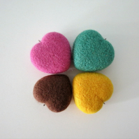 100% Merino Wool Hearts-Set of 4