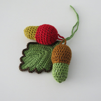 Crochet Acorns- Hanging Home Decorations