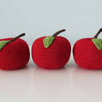 Crochet Christmas Apple Decoration