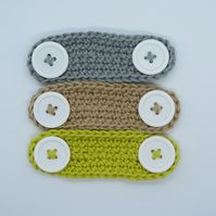 Set of 3 Cotton Ear Savers, Mask Adjusters