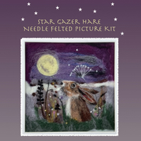 Star Gazer Hare Needle Felting Picture Kit