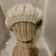 This is a beautiful hand knitted hat