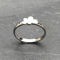 Cloud Ring.           Stack ring, silver ring, delicate ring, dainty ring.