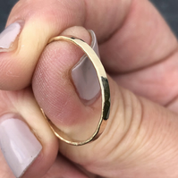 Gold Paving Ring, hammered gold band, 2mm gold band, gold stack ring, gold ring