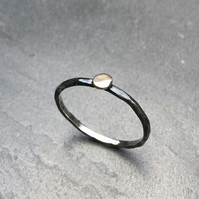 Olde Penny Ring. Mixed metal, gold penny, dainty ring.