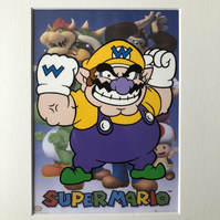 Super Mario - Wario - Hand drawn and hand painted cel
