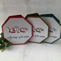 'Believe in the magic' Christmas cards set of 3