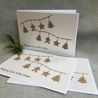 3 gingerbread garland Christmas cards