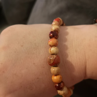Cute wooden beaded bracelet