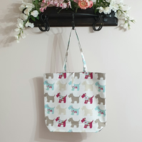 Handmade Scottie Dog Tote Bag