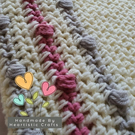 Handmade crochet soft and snuggly baby blanket for sale