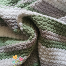 Handmade crochet soft and snuggly baby blanket