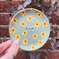 Personalised Sunflower Dish - Sunflower Dish - Trinket Dish