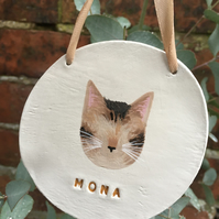 Personalised Cat Wall Hanging - Pet Wall Hanging