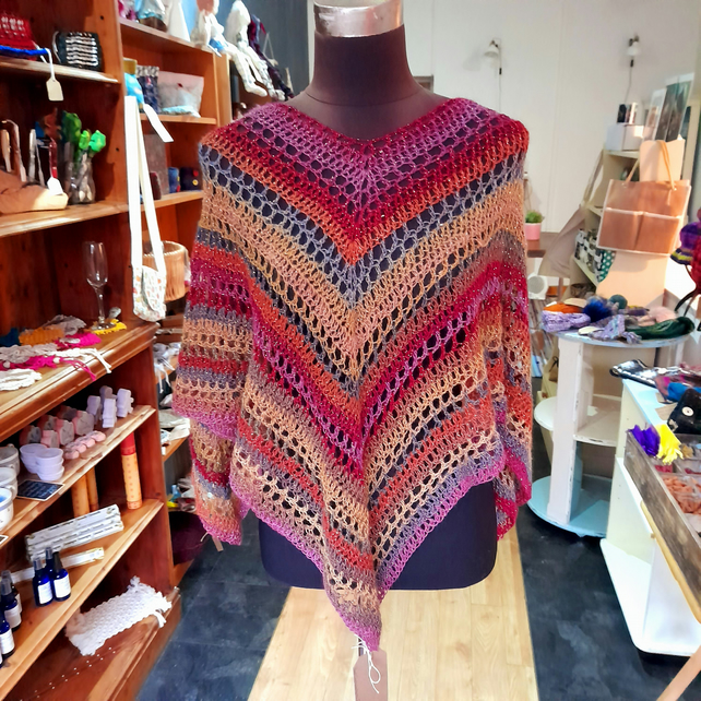 Sparkly crocheted poncho