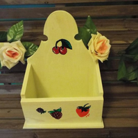 Hand painted with Berries wooden display box