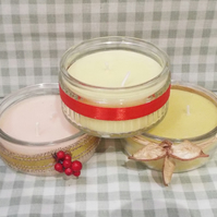 Scented tealight's in glass holders (pkt of 3)
