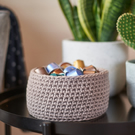 Medium Storage Basket with handles - Crochet Basket - Handmade - Basket - Home
