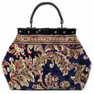 HEIRLOOM Blossom Navy - Mary Poppins Victorian Classic Carpet Bag