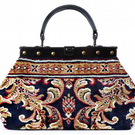 EXQUISITE Blossom Navy - Mary Poppins Victorian Small Classic Carpet Bag