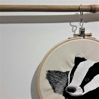 Badger - A detailed free motion embroidery