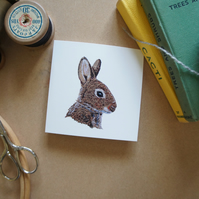 Rabbit blank gift cards - pack of 4 with envelopes.