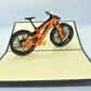 Handmade 3D popup card bike bicycle birthday,anniversary,Valentine,Father's day
