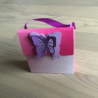 Butterfly gift bag.