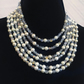 Faux pearl and Chrystal necklace