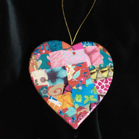Pretty colourful hanging heart