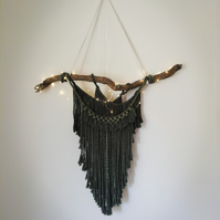 Handmade Macrame Wall Hanging With Fairy Lights