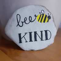 Bee Kind Stone painting