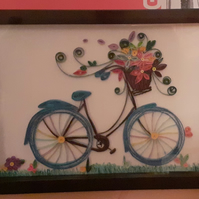 Blue Quilled Bicycle