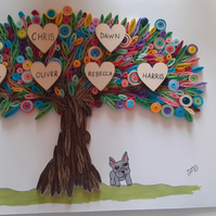 Quilled Family Tree